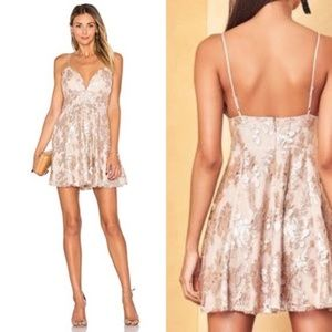 NWT Lovers + Friends Blush Pink Sequin Dress B24